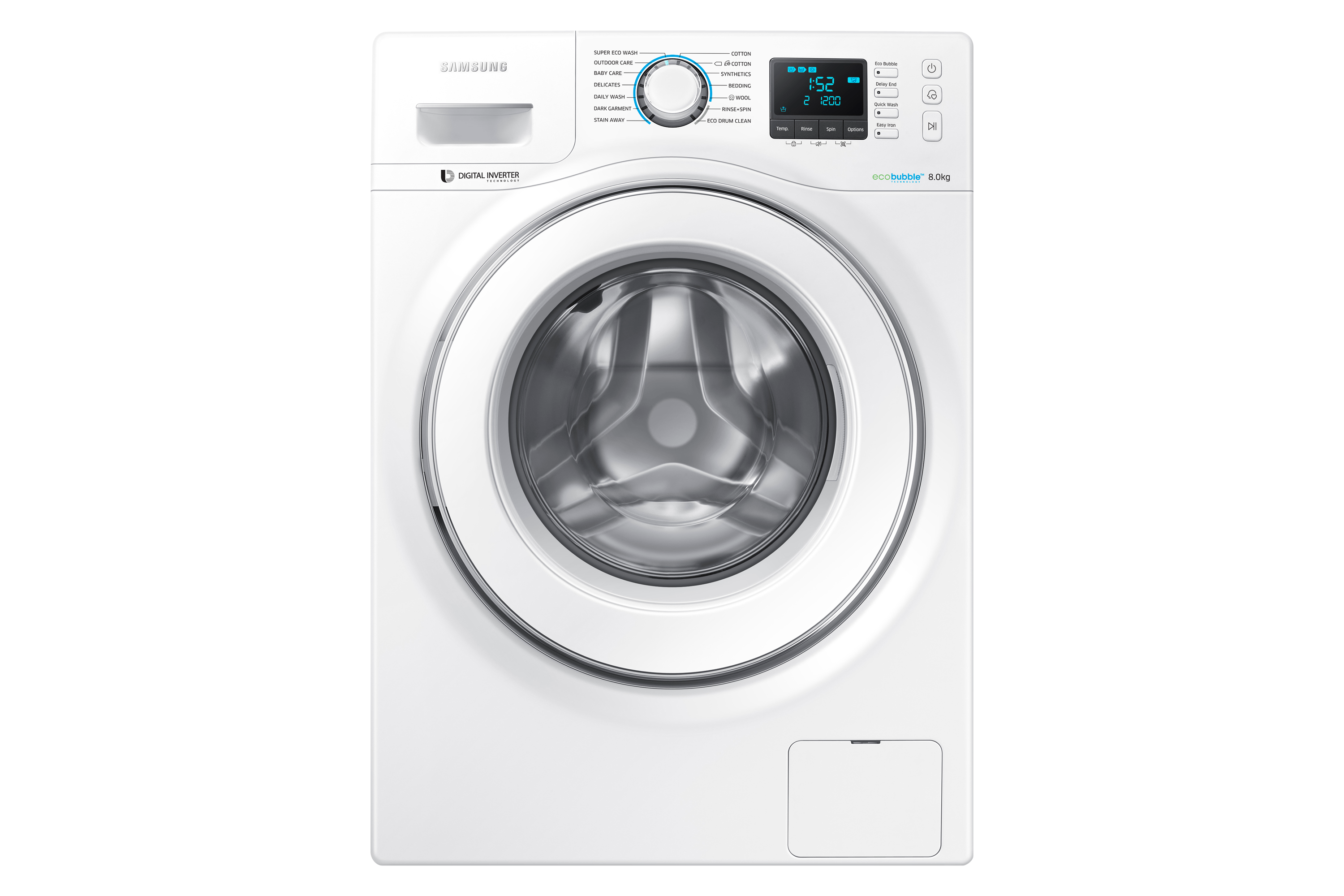 WW7000H Front Load Washer with Eco Bubble, 8kg