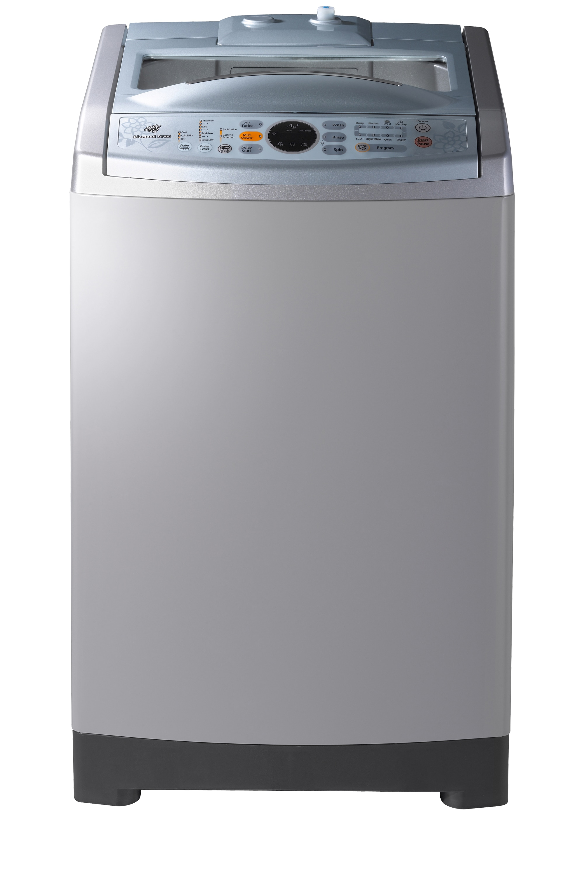 Poseidon2 Top Loader with Air Turbo Dry, 11 kg, Silver