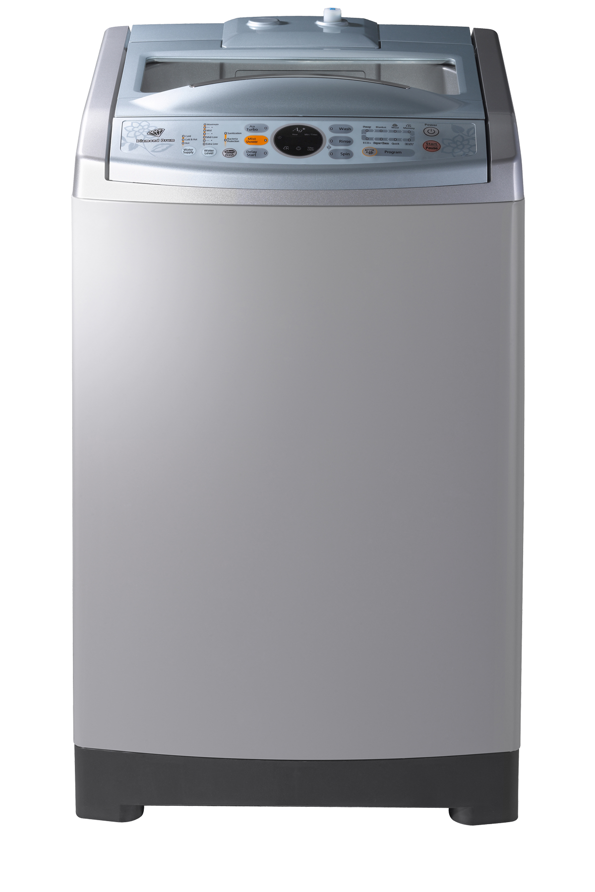 Poseidon2 Top Loader with Air Turbo Dry, 7.5 kg, Silver