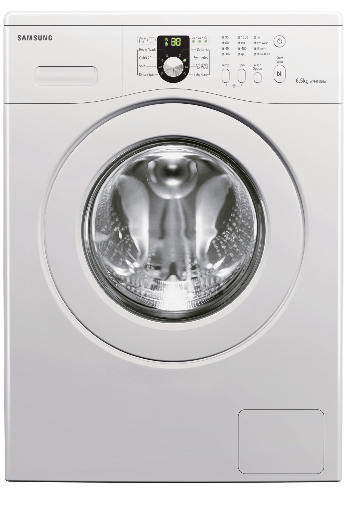 Aegis Washer with Volt Control, 6.5 kg, White