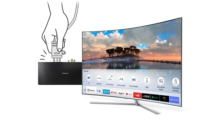 Q7C QLED TV Auto Detection