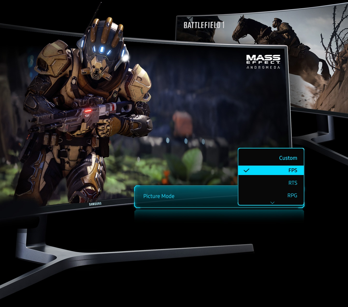 UHD Curved Monitor Optimized for gamers