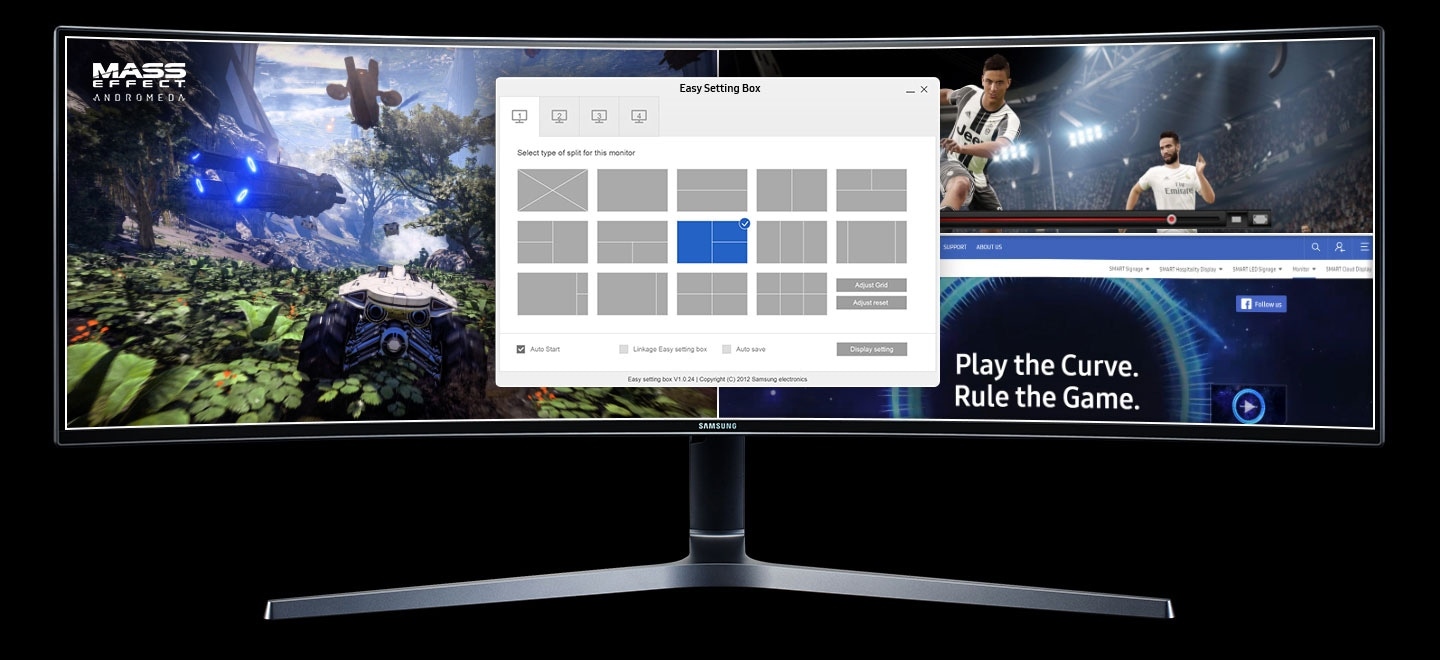 UHD Curved Monitor Easy Setting Box
