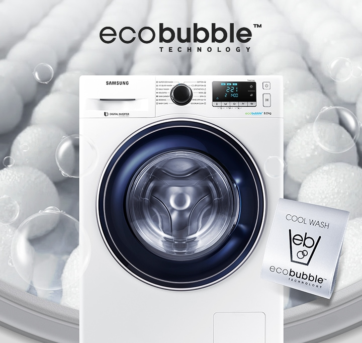 Samsung eco bubble wasmachine 8kg ww80j5426fw samsung - Technologie eco bubble ...