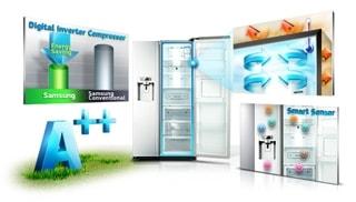 Een toonaangevende energiezuinige koelkast in zijn klasse