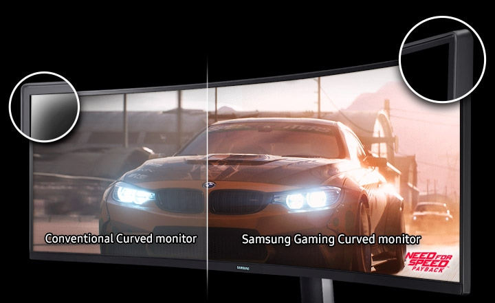 UHD Curved Monitor 3000:1 Contrast Ratio