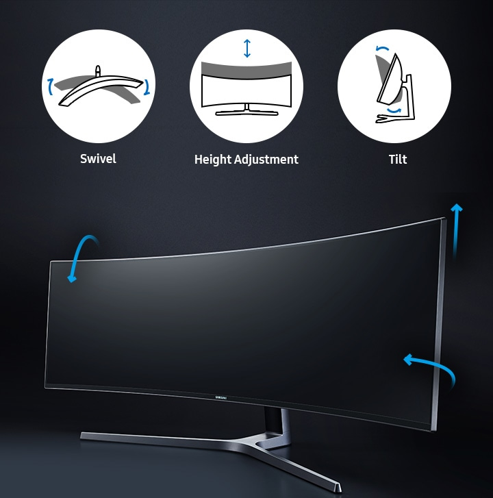 UHD Curved Monitor HAS-precisiestandaard
