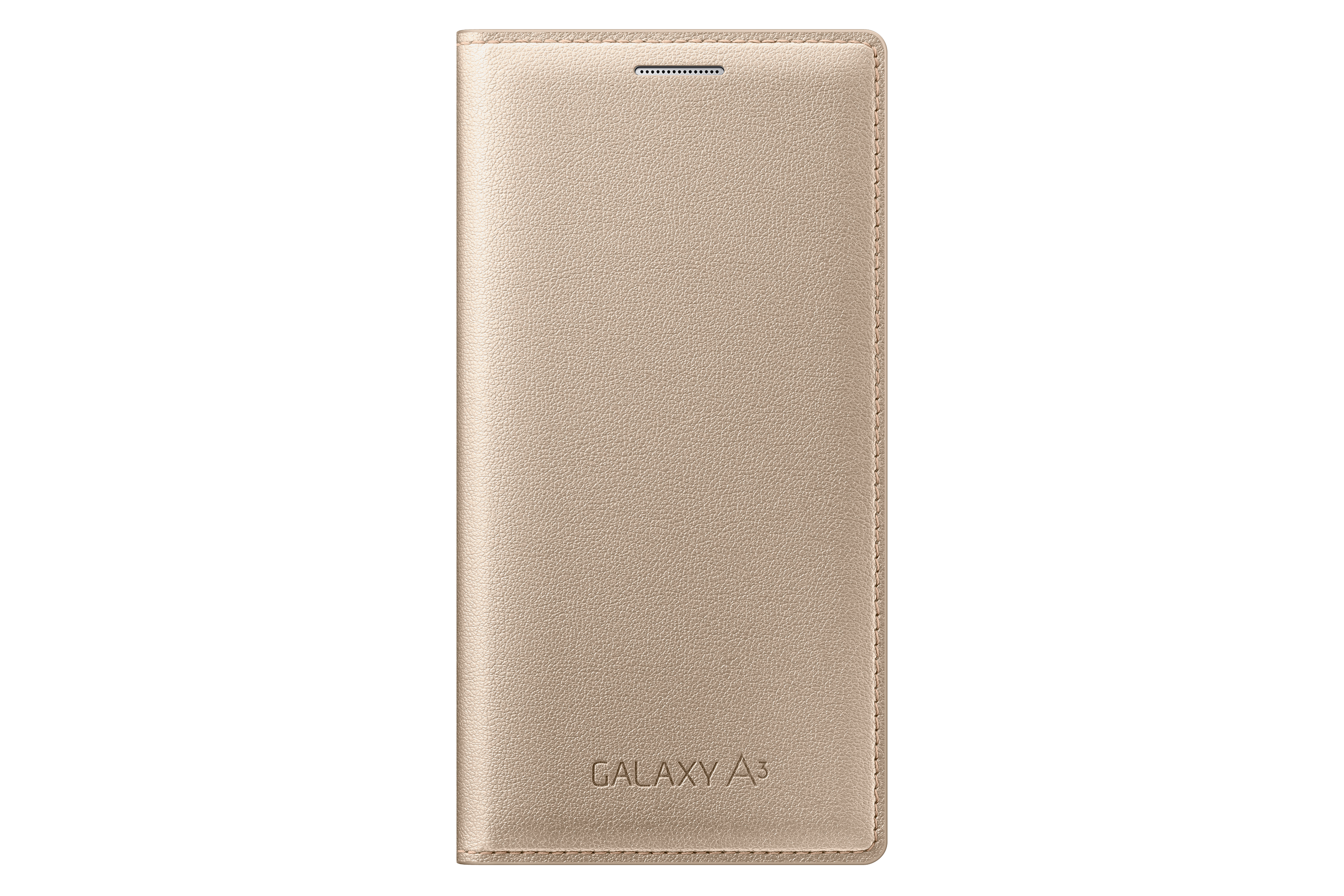 Flip Cover Galaxy A3 Gold