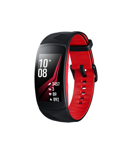 Gear Fit2 Pro Small zwart rood voorkant