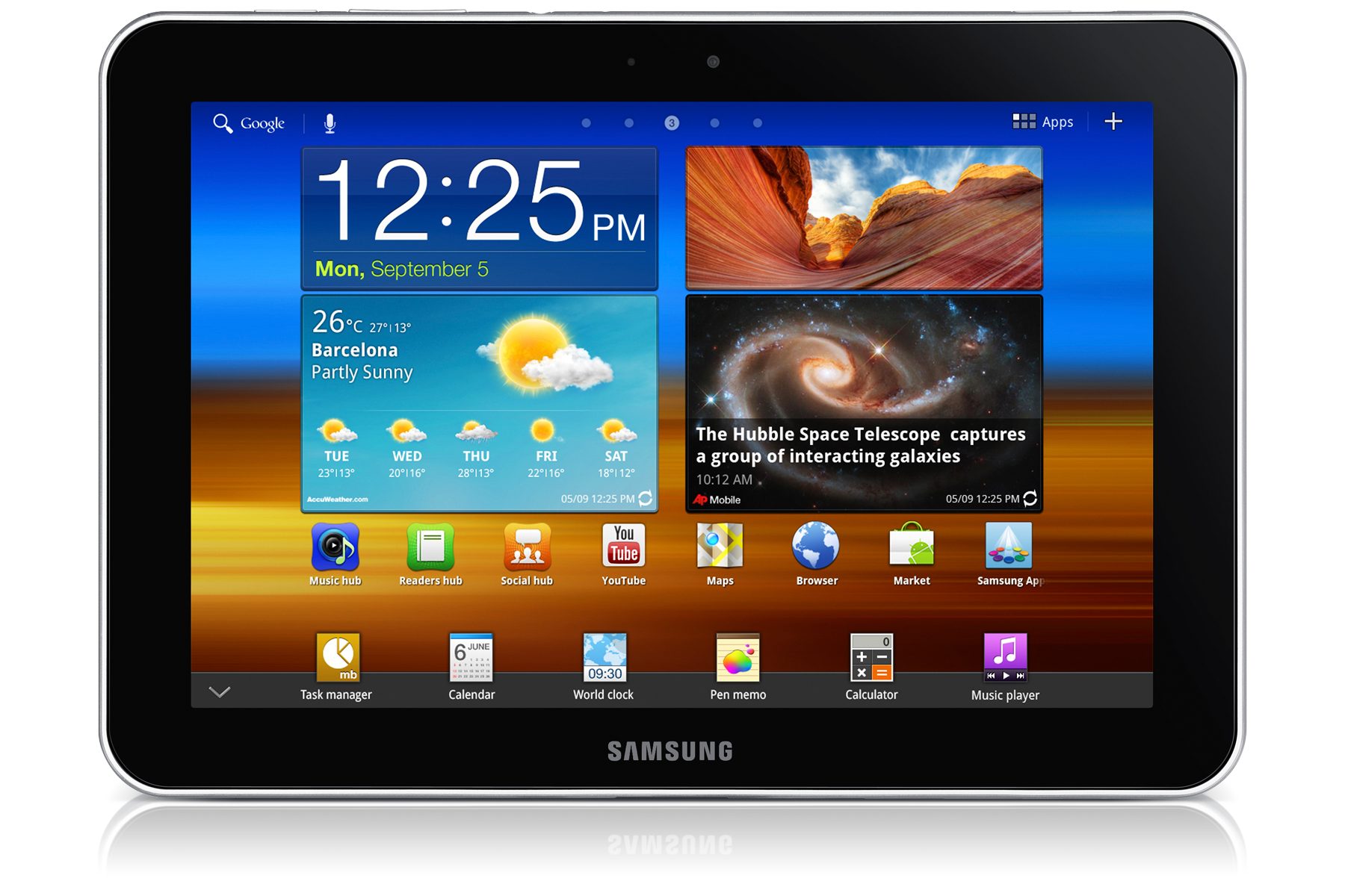 Galaxy Tab 8.9 3G + WiFi P7300 Android