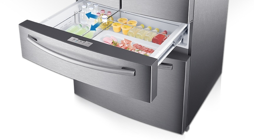 Counter-height FlexZone™ Drawer for the most storage flexibility in its class