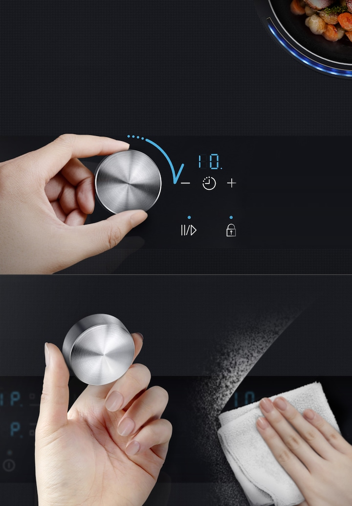 Precise detachable knob