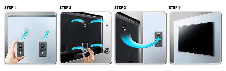 Simply and easily hang your TV like a piece of art