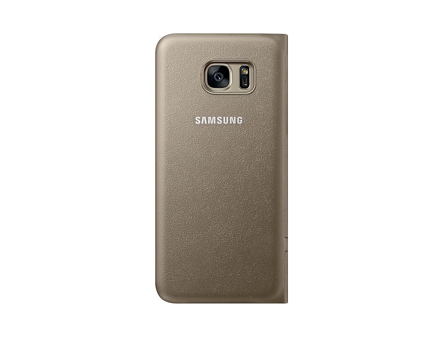 purchase cheap 25f95 9b4f2 S7 edge LED View Cover - Gold | EF-NG935PFEGWW | Samsung NZ