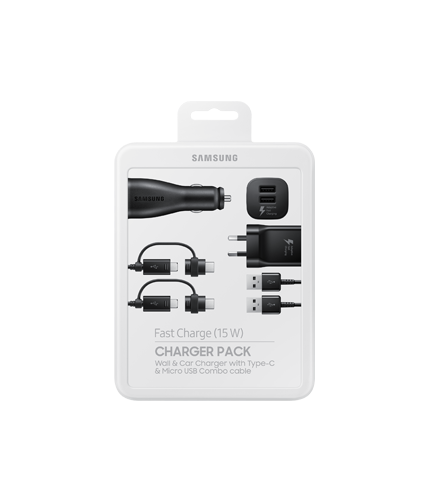Wall and car charger pack.