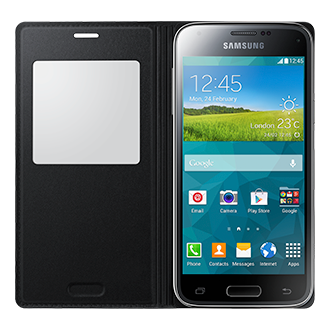 EF-CG800B Galaxy S5 Mini S View Cover Black