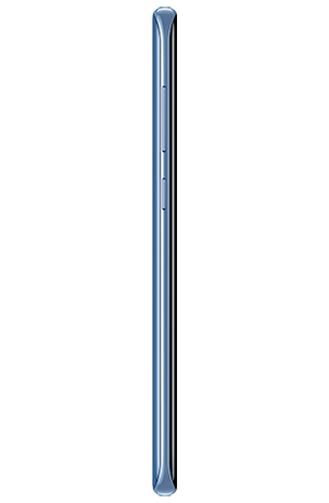 Left side view of Galaxy S8+ in Coral Blue