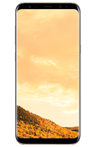 Front view of Galaxy S8+ in Maple Gold