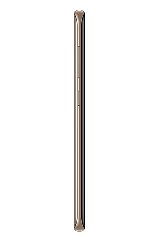 Left side view of Galaxy S8 in Maple Gold