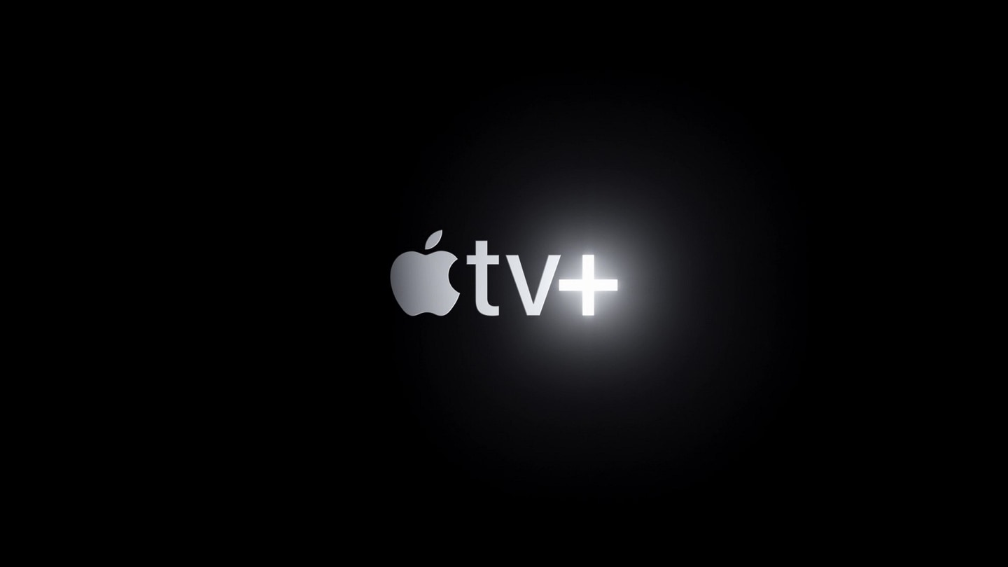 Apple TV+ logo appears in the middle of the black screen.