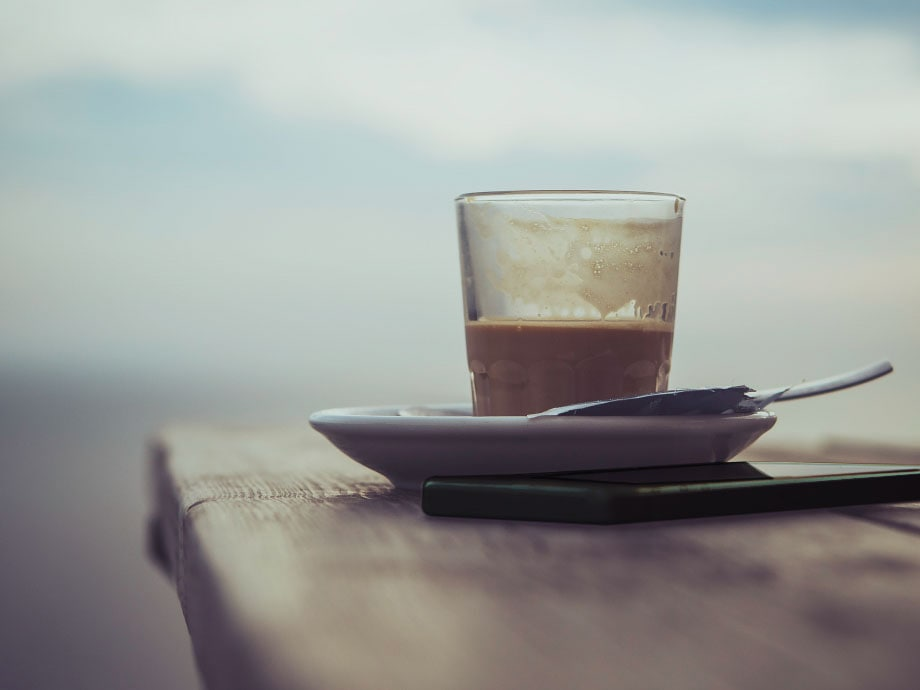 Enjoy your coffee without distraction from your phone