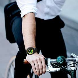 Thumbnail of person wearing Gear Sport while commuting on a bike