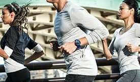 Thumbnail of person running outside wearing Gear Sport
