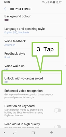 Galaxy S9/S9+: How can I unlock the screen by Bixby Voice?