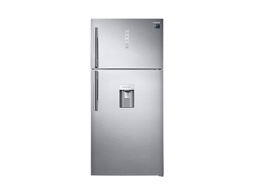 A front view of the Samsung top-mounted freezer refrigerator