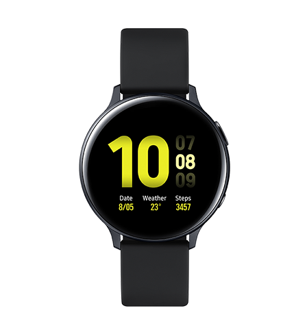 Galaxy Watch Active2 in black seen from the front