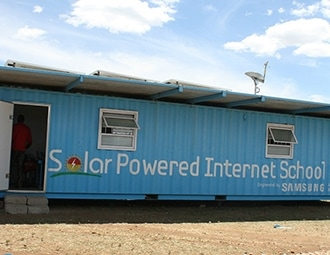 This is a picture of solar power internet school.