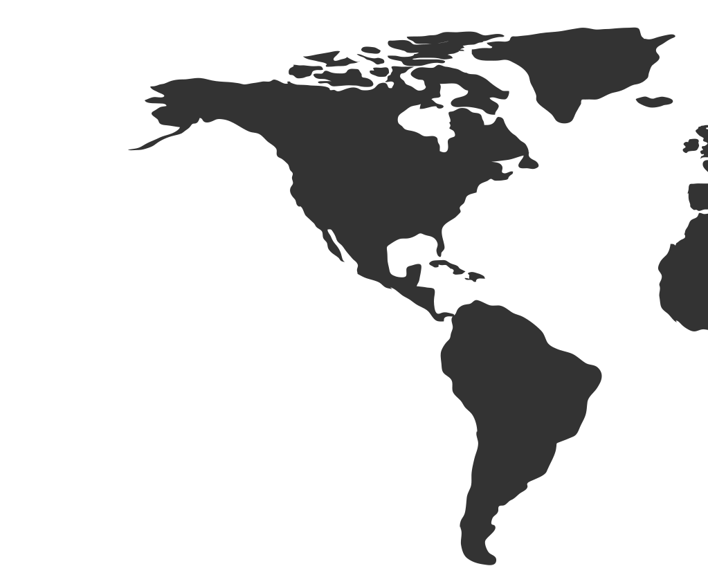 An image of a Americas map, showing countries that have certified Samsung Knox.