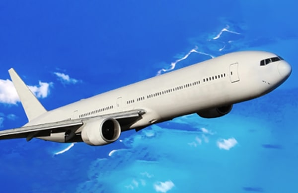 An image showing an airplane flying in the sky. If you click on the image, you can navigate to the Mezzo Global detail page.