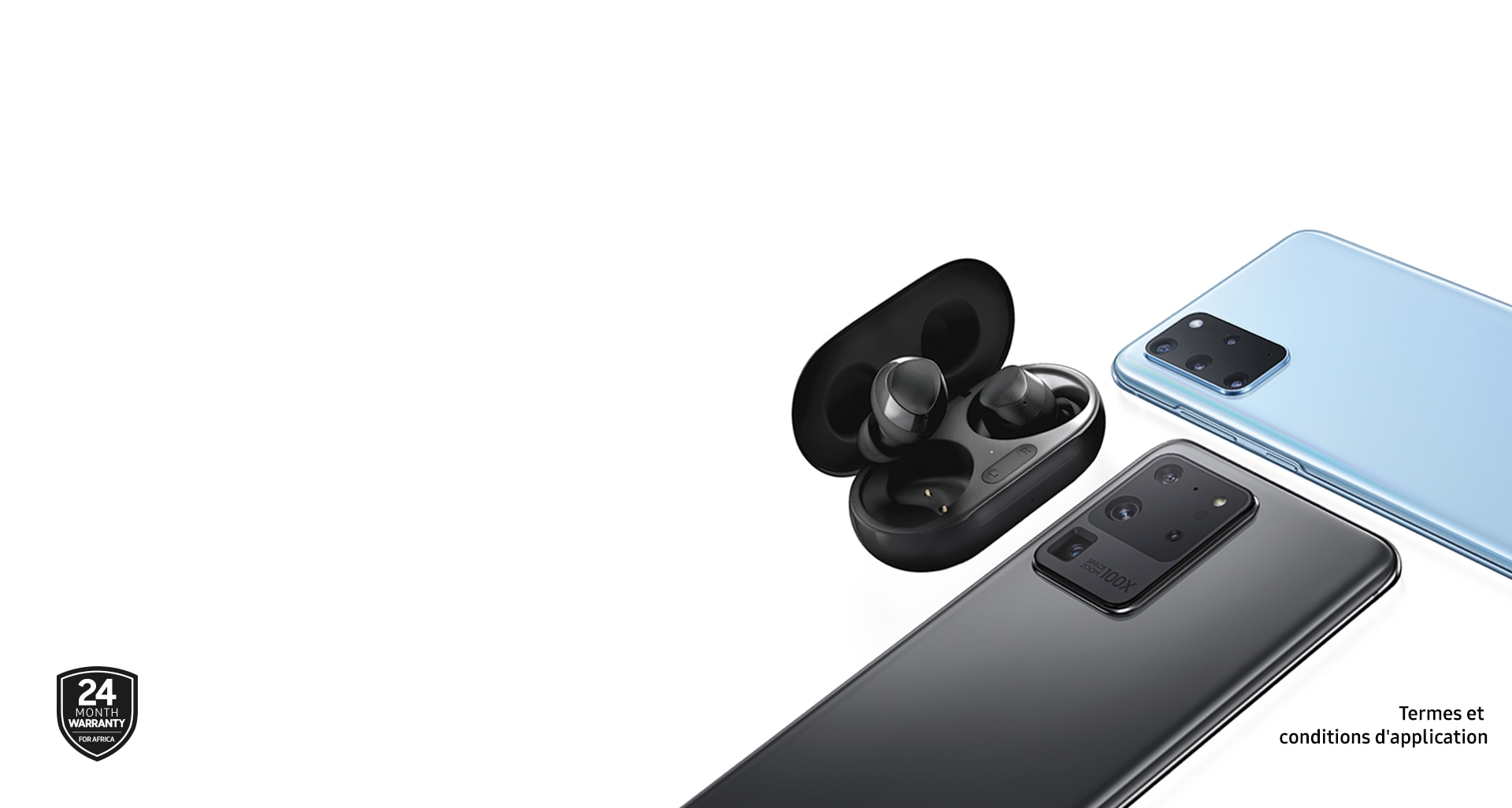 Image shows Samsung Galaxy S20 and Galaxy Buds Plus