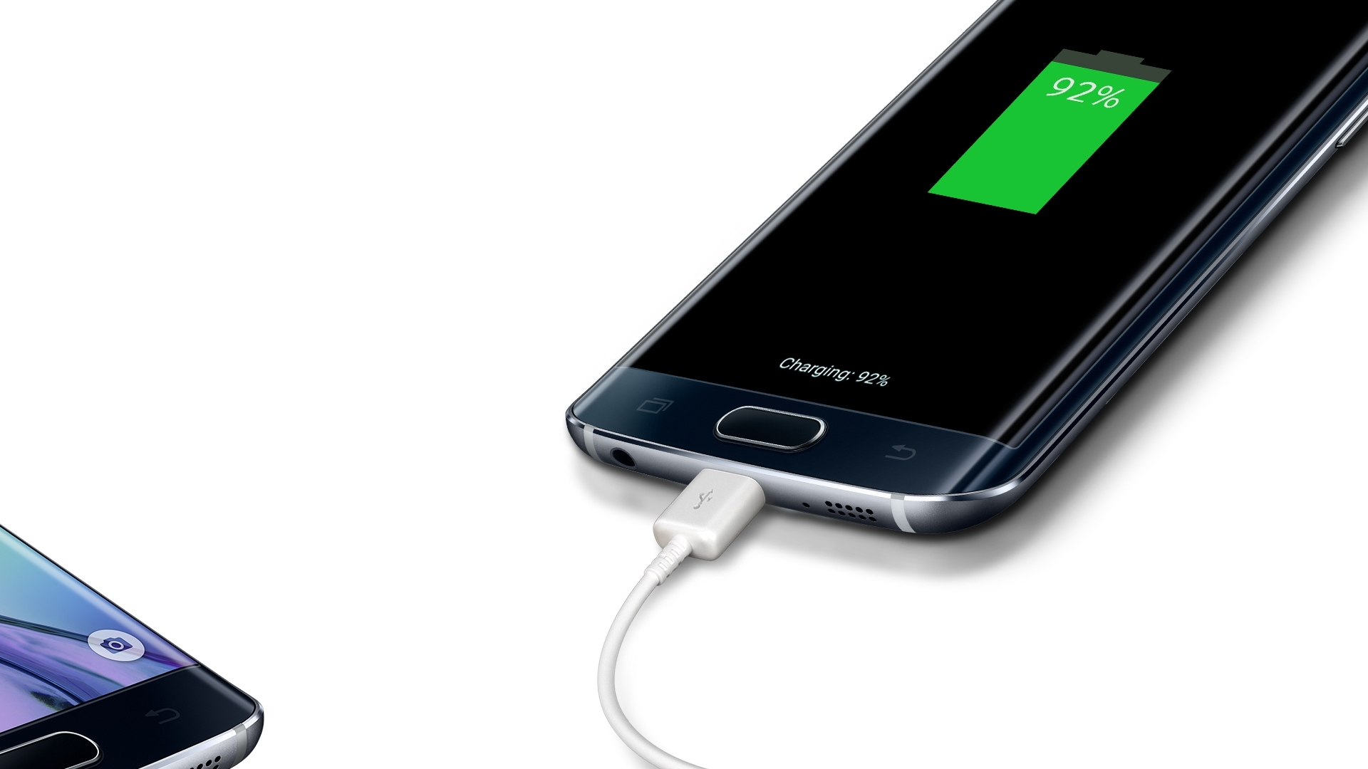 Photo du Galaxy S6 edge en cours de charge.