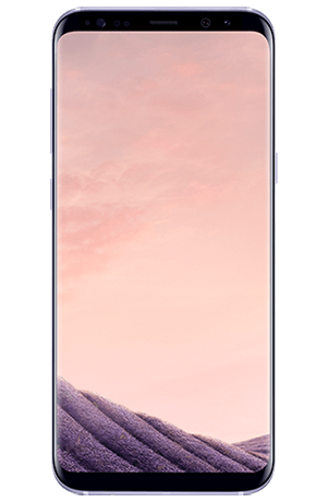 Vista frontal del Galaxy S8+ Orchid Gray