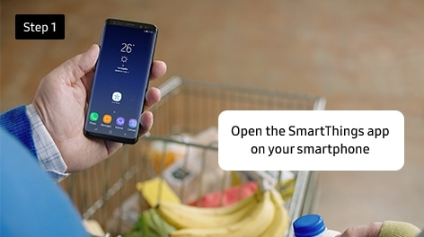Step 1. Open the SmartThings app on your smartphone