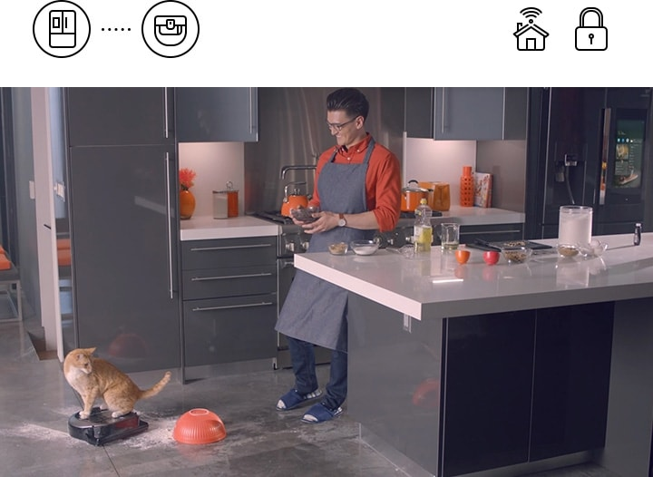 When you're cooking, timing is everything. With the Smart Things app you can easily control all your other appliances without having to stop what you're doing.