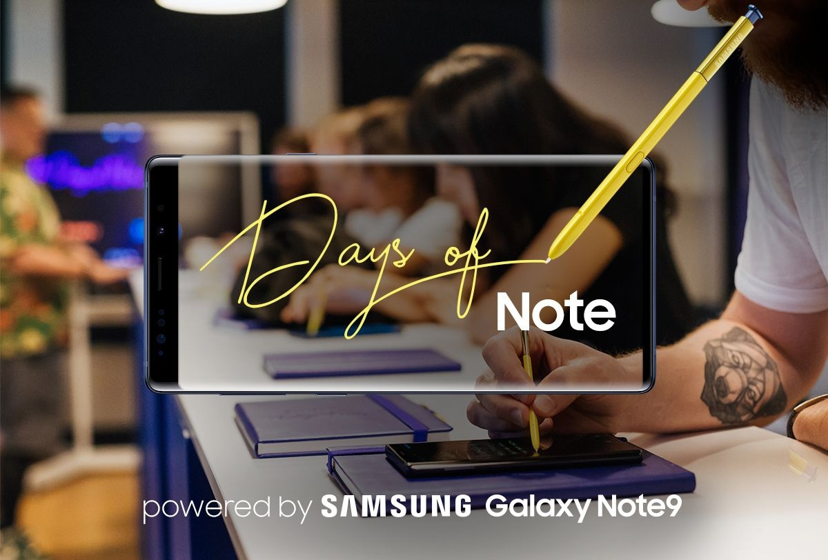 Days of Note powered by SAMSUNG Galaxy Note9