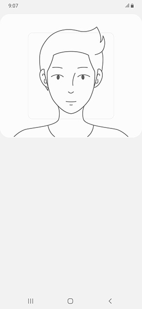 Position your whole face in the box shown on the screen to complete the registration. If your face is too close or too far from the camera your Face ID may not be recognised.