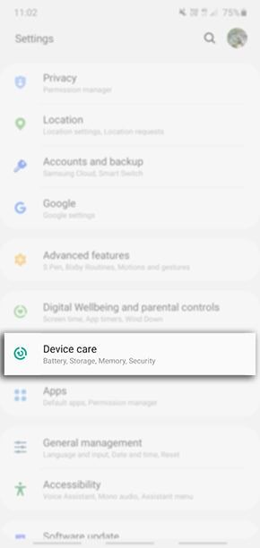 Head into your Settings > Device Care