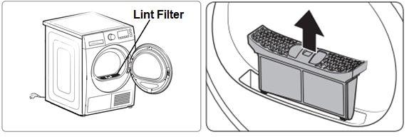 Location Of Lint Filter In Samsung Washer Dryer Combo