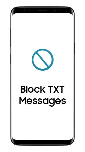 How do I block or unblock numbers from sending me a text