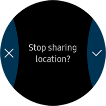 tap the tick button to finalise stop sharing location