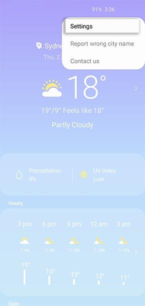 Using the Weather widget on a Samsung Phone | Samsung