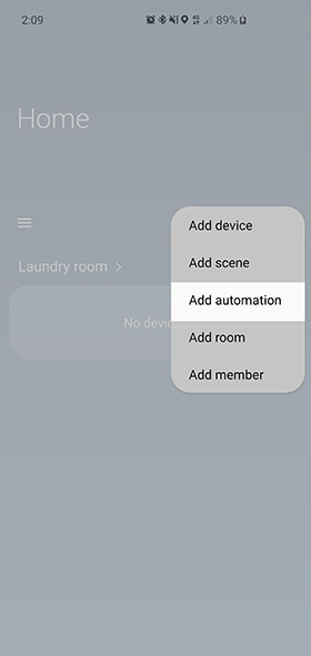 tap on add automation