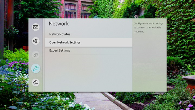 Open Network Settings on your TV