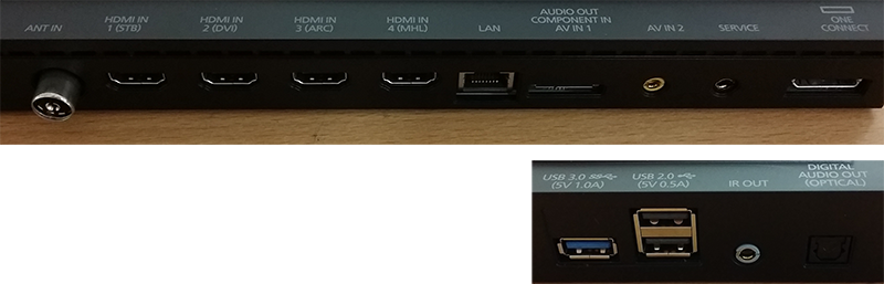 Ports on the Samsung One Connect box | Samsung Support Australia