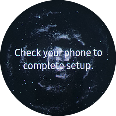 Check  your phone to complete setup