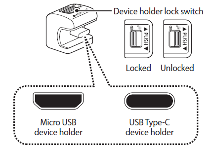 Replace device holder lock switch